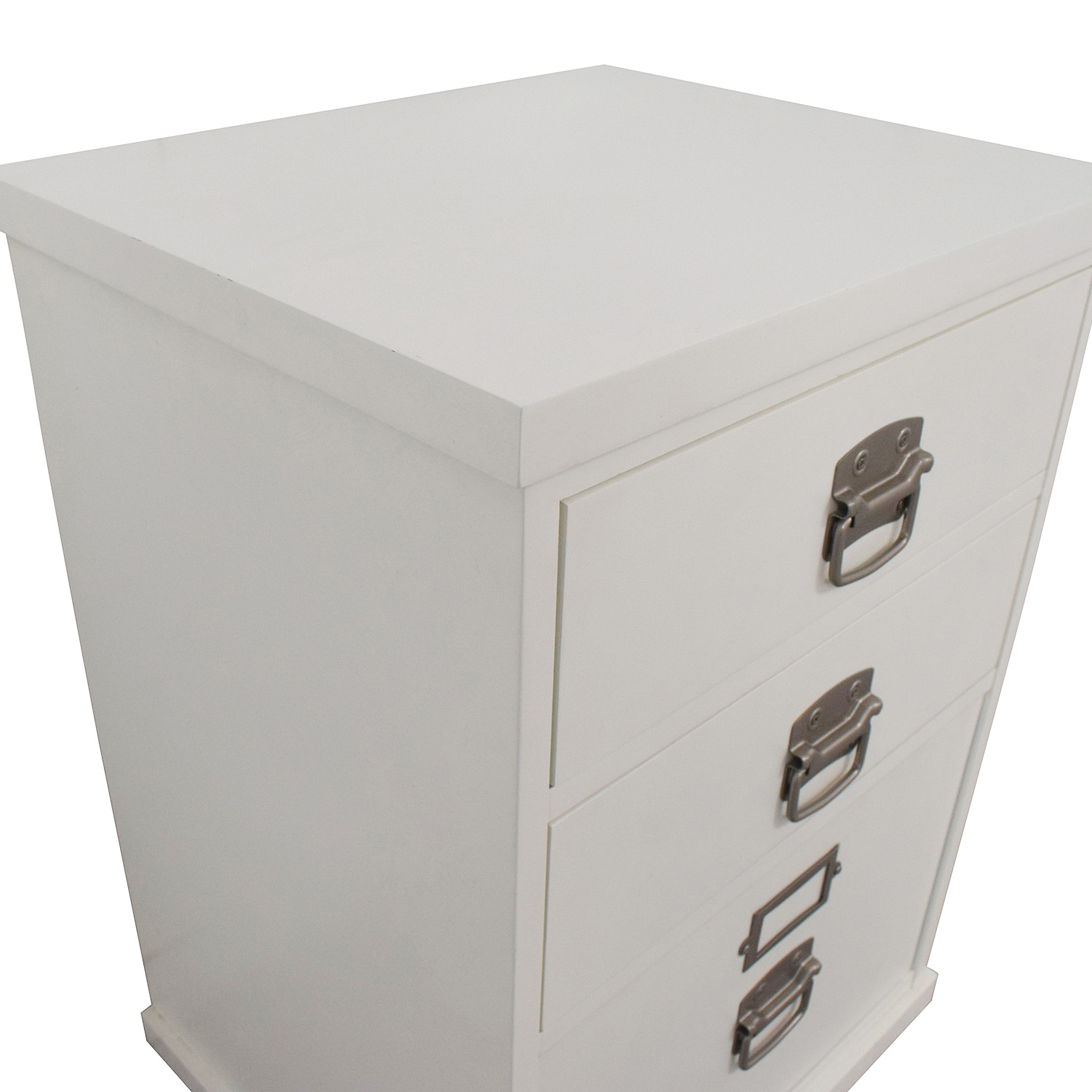 Pottery Barn Pottery Barn Bedford White Three-Drawer File Cabinet Storage