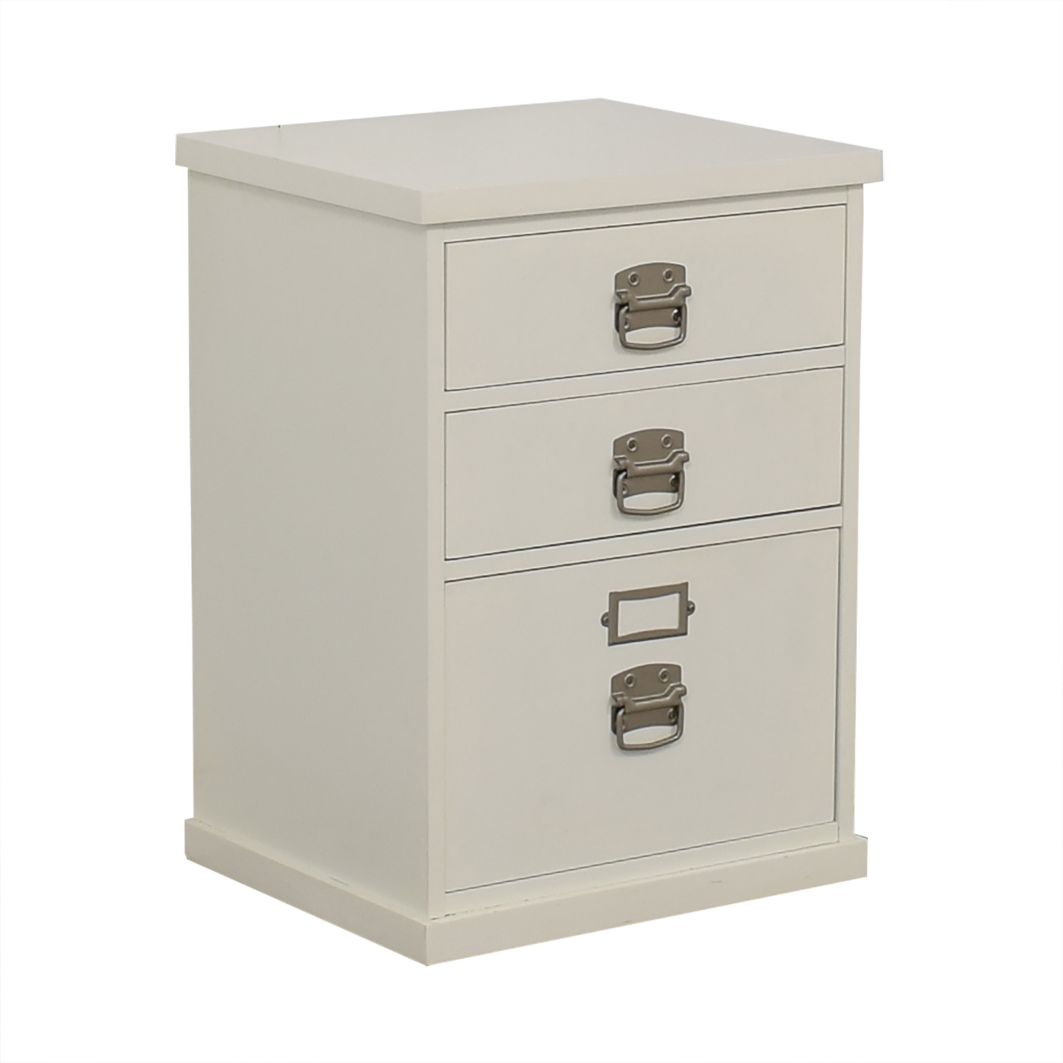 Pottery Barn Pottery Barn Bedford White Three-Drawer File Cabinet nyc