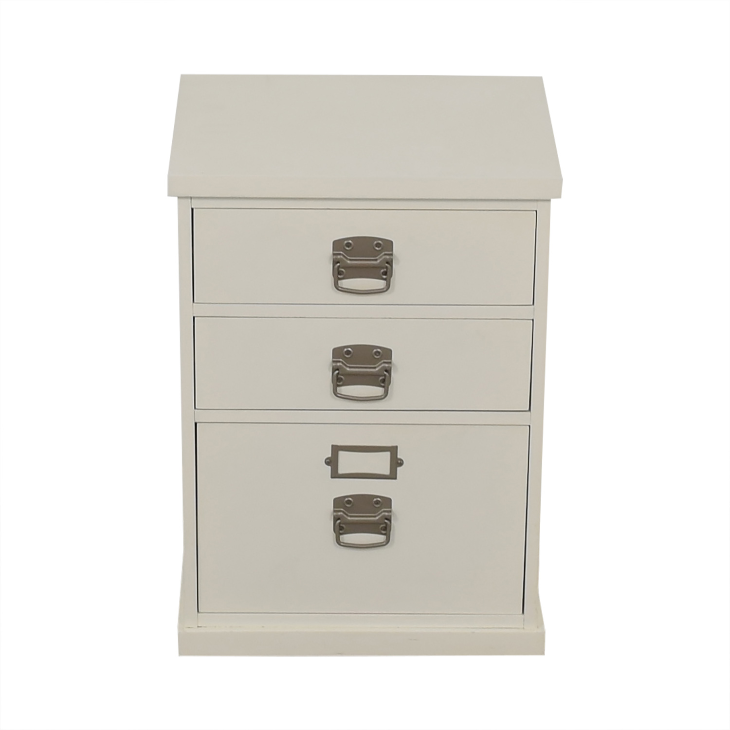 shop Pottery Barn Bedford White Three-Drawer File Cabinet Pottery Barn Storage