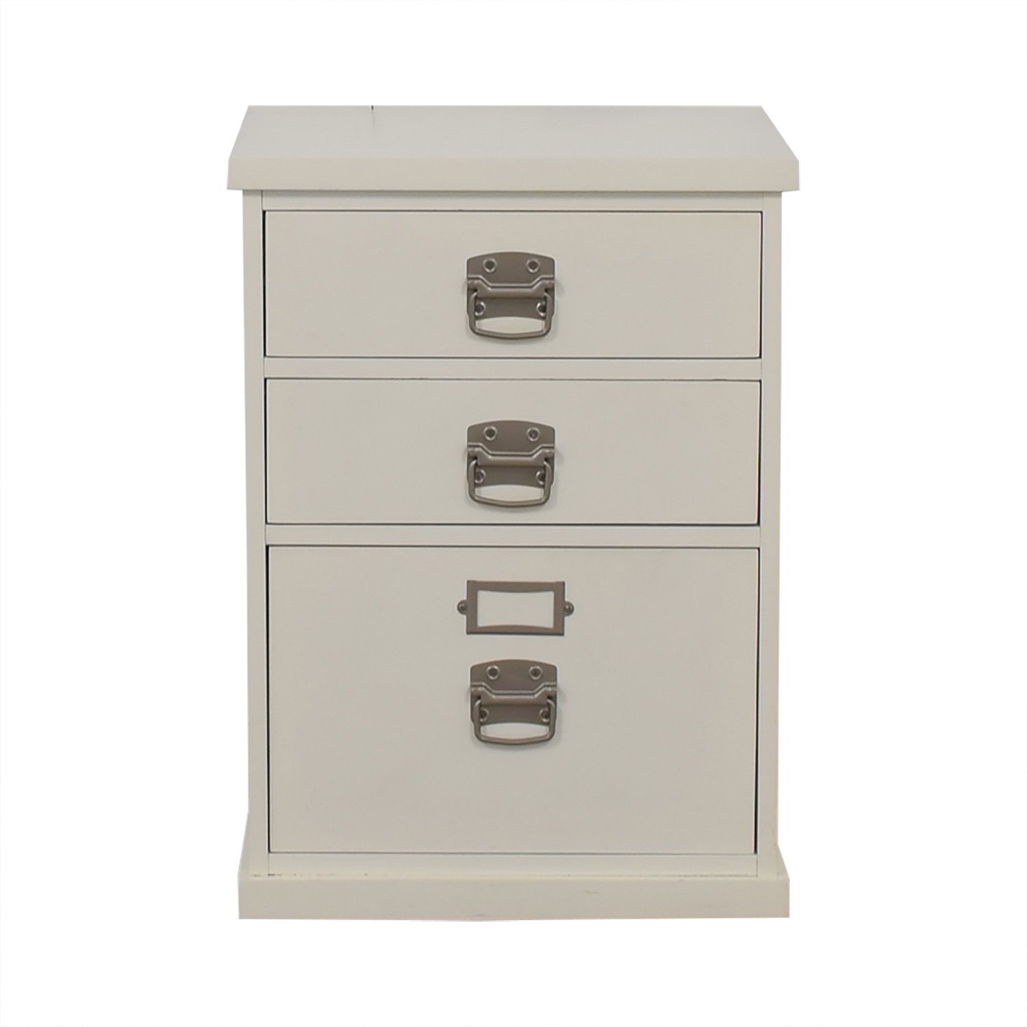 shop Pottery Barn Bedford White Three-Drawer File Cabinet Pottery Barn Filing & Bins