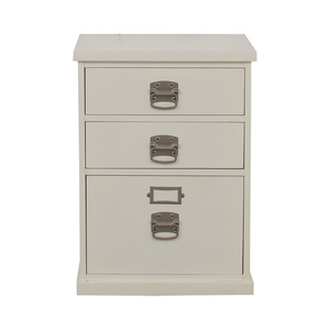Pottery Barn Pottery Barn Bedford White Three-Drawer File Cabinet
