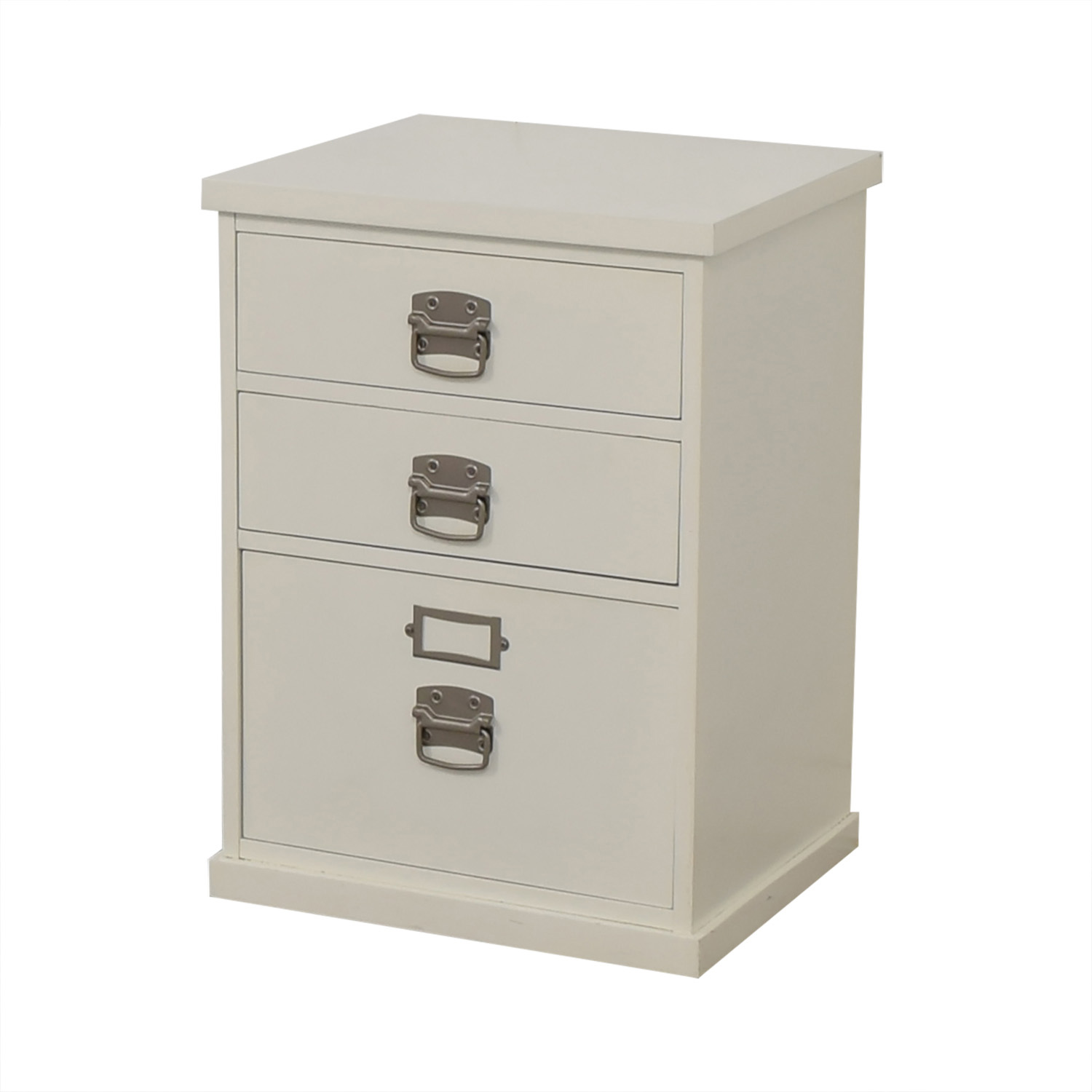 Pottery Barn Pottery Barn Bedford White Three-Drawer File Cabinet White