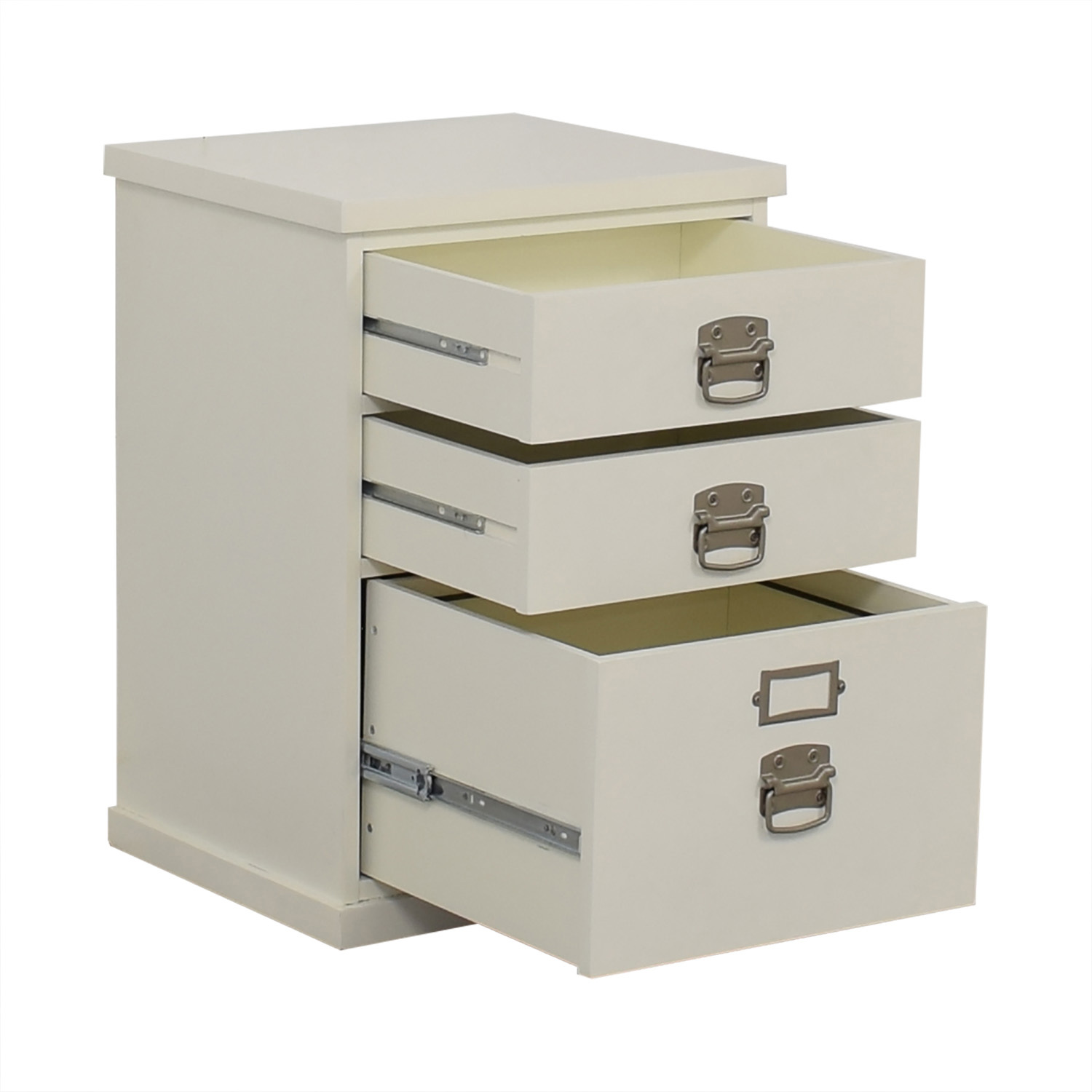 buy Pottery Barn Bedford White Three-Drawer File Cabinet Pottery Barn