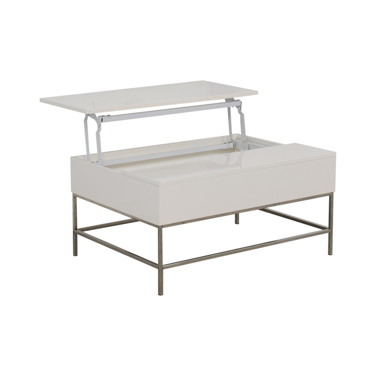 80 Off West Elm West Elm Lacquer Storage Pop Up Coffee Table Tables