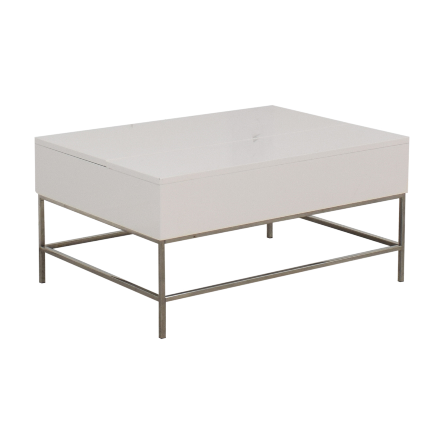 80 Off West Elm West Elm Lacquer Storage Pop Up Coffee Table