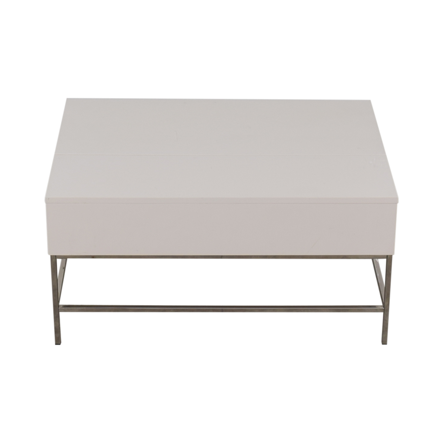 Picture of: 80 Off West Elm West Elm Lacquer Storage Pop Up Coffee Table Tables