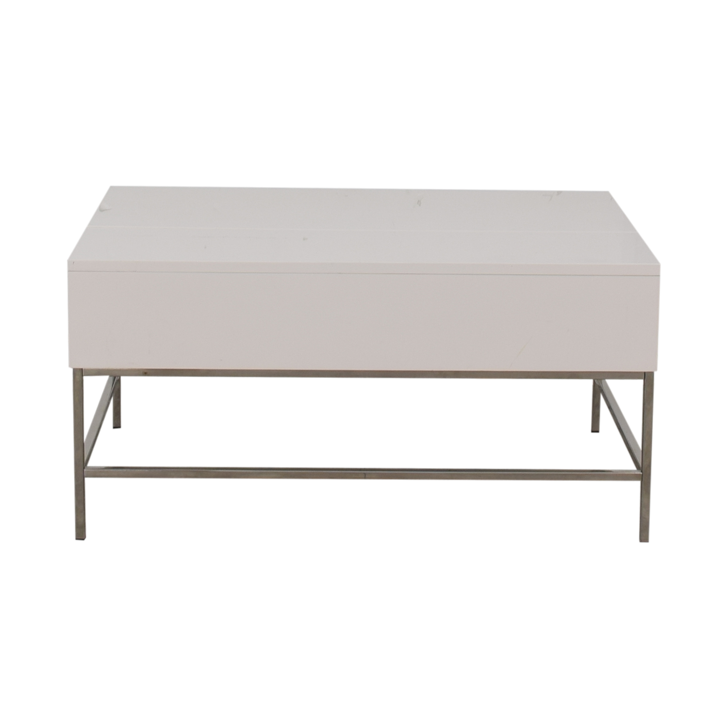 80% OFF - West Elm West Elm Lacquer Storage Pop-Up Coffee Table / Tables
