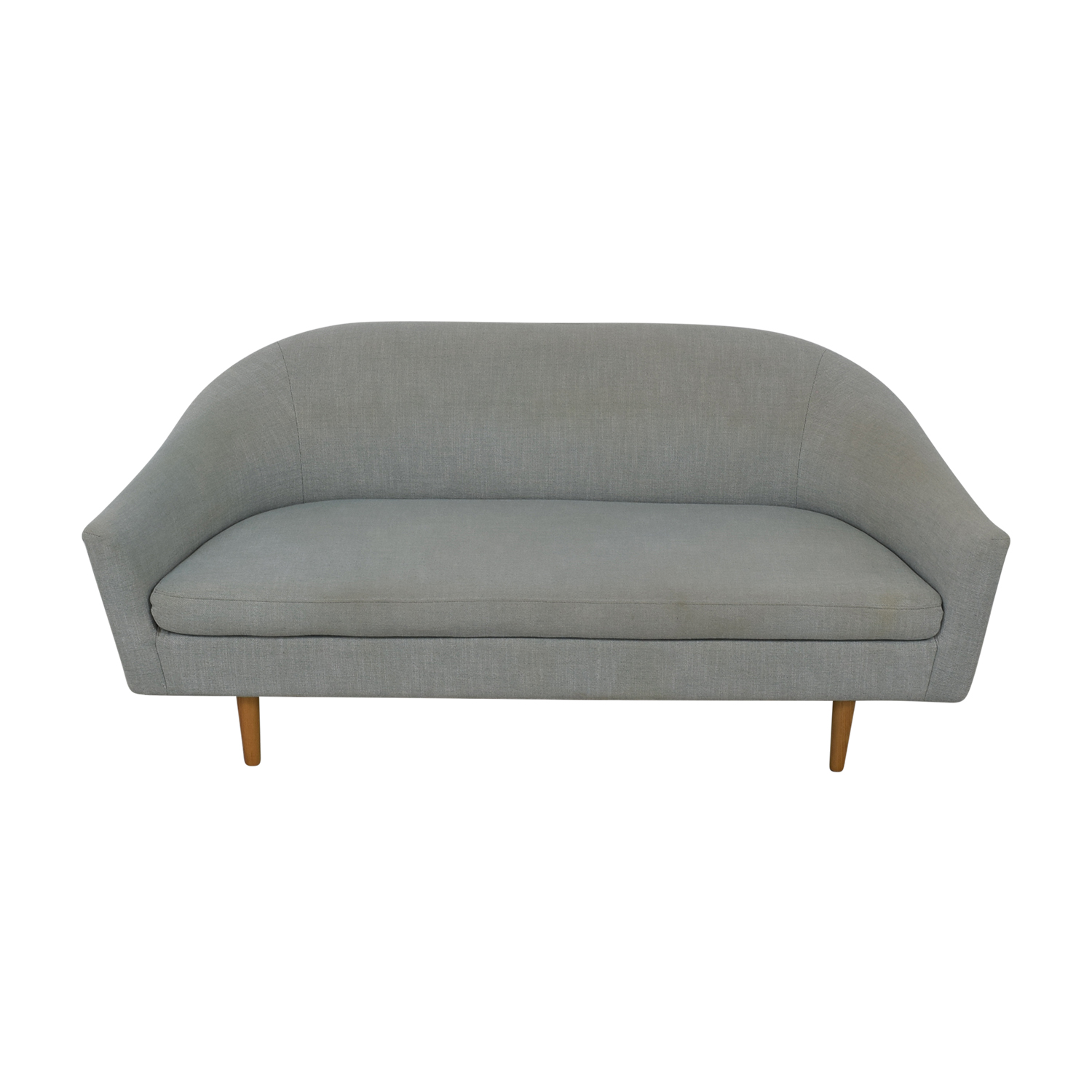 West Elm Grey Single Cushion Sofa West Elm