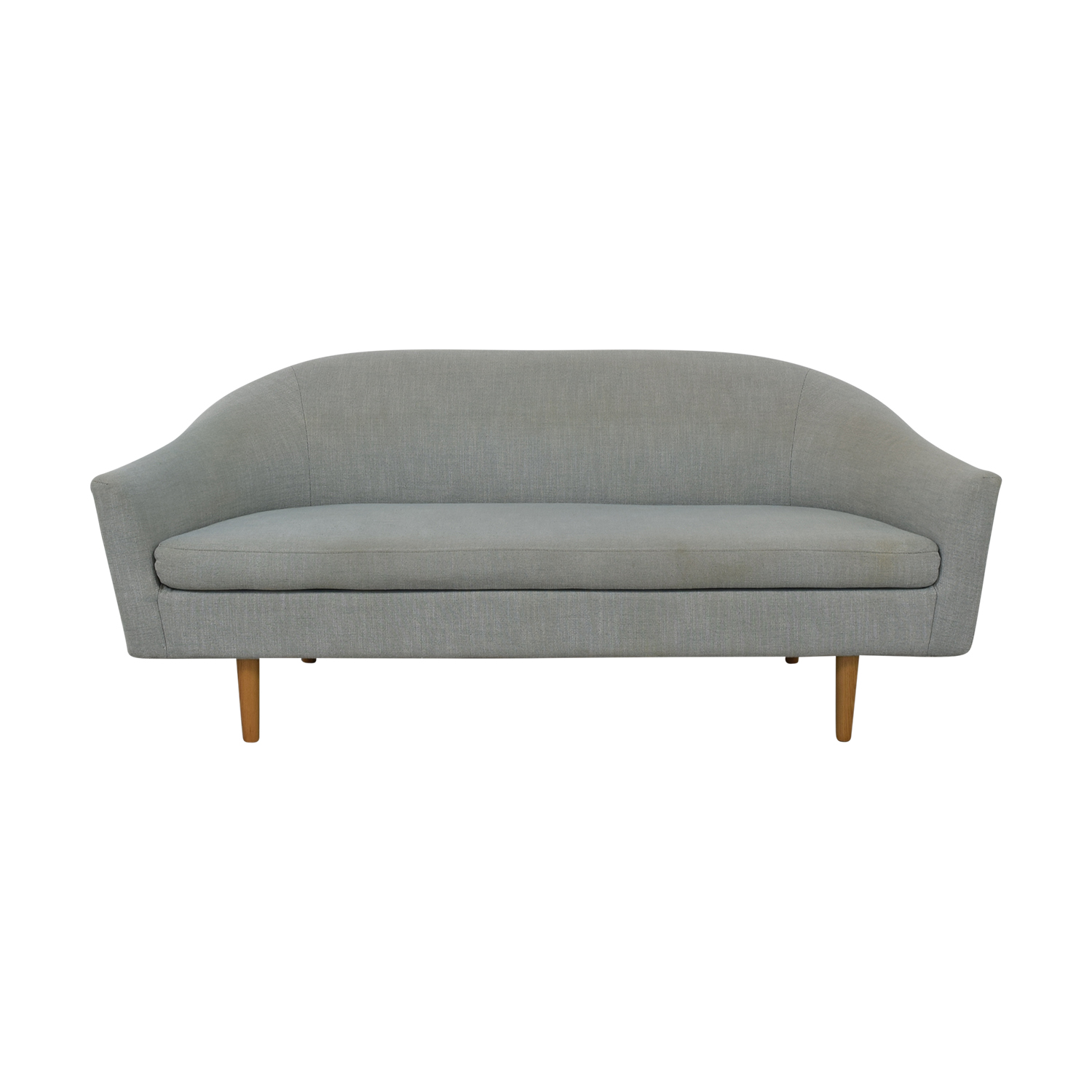 West Elm West Elm Grey Single Cushion Sofa