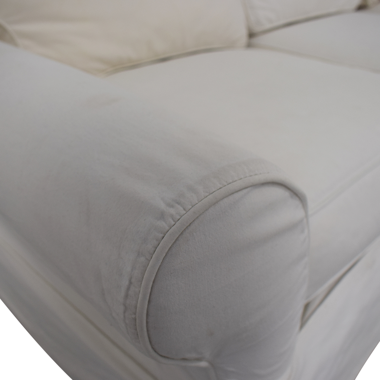 Crate & Barrel Slipcover Sofa sale