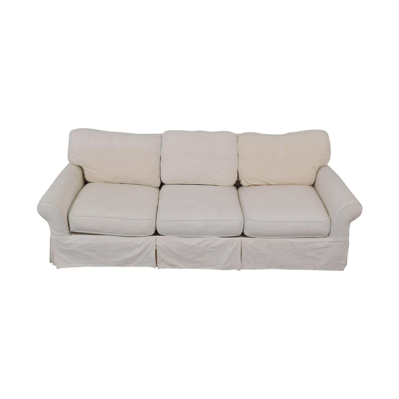 Crate & Barrel Crate & Barrel Slipcover Sofa on sale