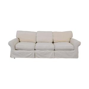 Crate & Barrel Crate & Barrel Slipcover Sofa discount