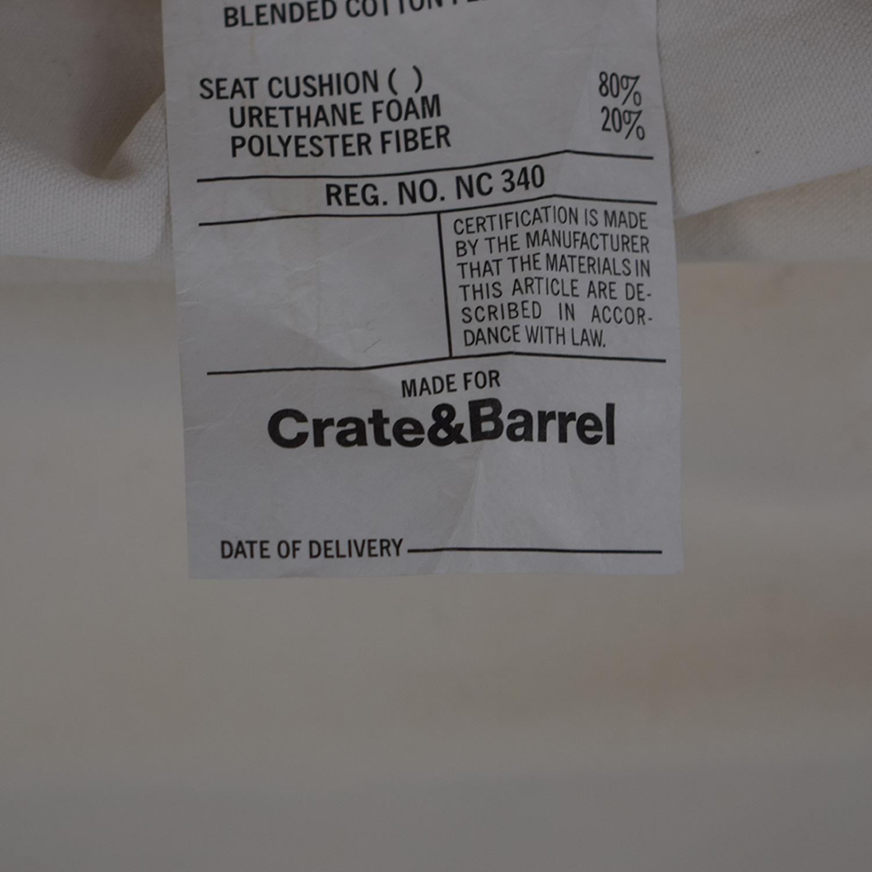 buy Crate & Barrel Slipcover Sofa Crate & Barrel Classic Sofas