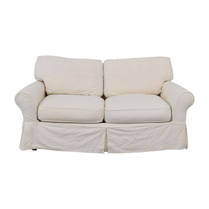 shop Crate & Barrel Slipcover Loveseat Crate & Barrel