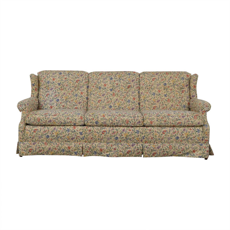 Ethan Allen Ethan Allen Floral Three-Cushion Sofa second hand