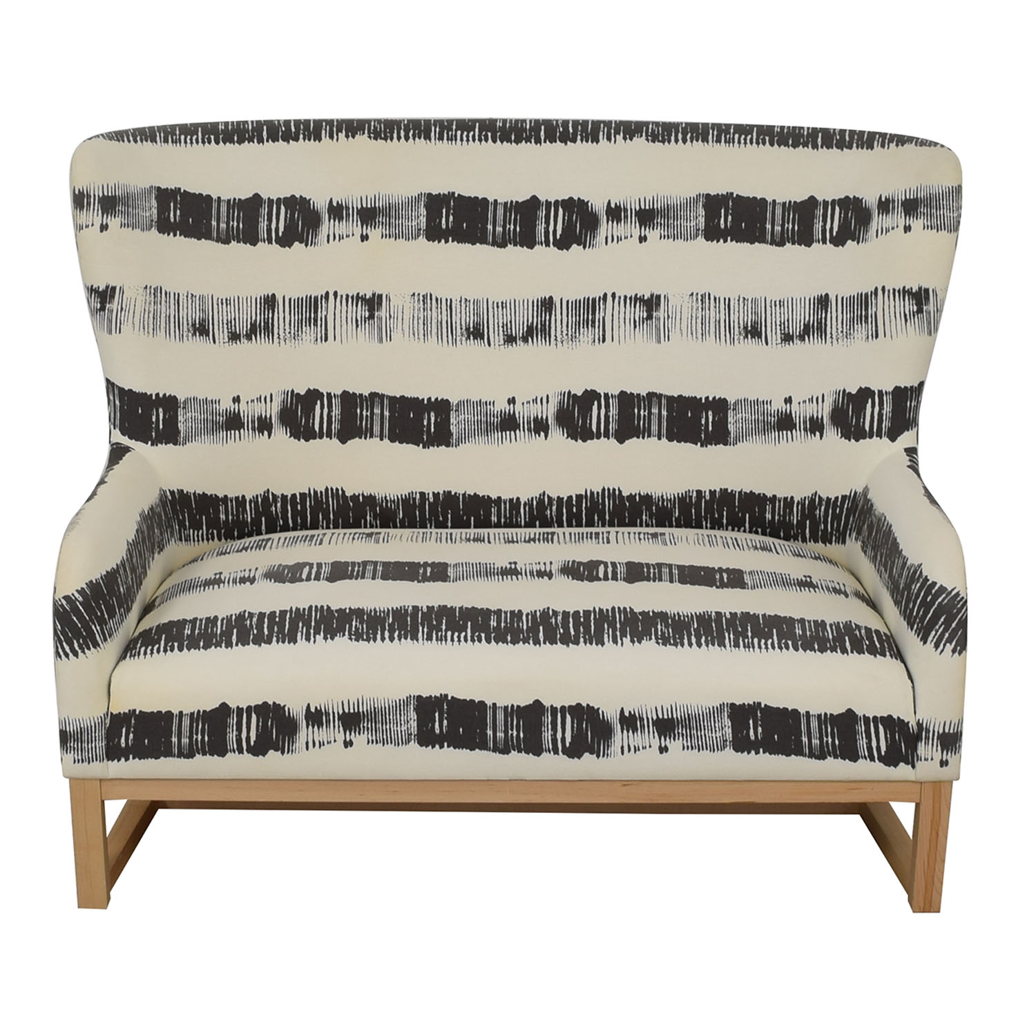 CB2 CB2 Graphite Stripe Loveseat nj