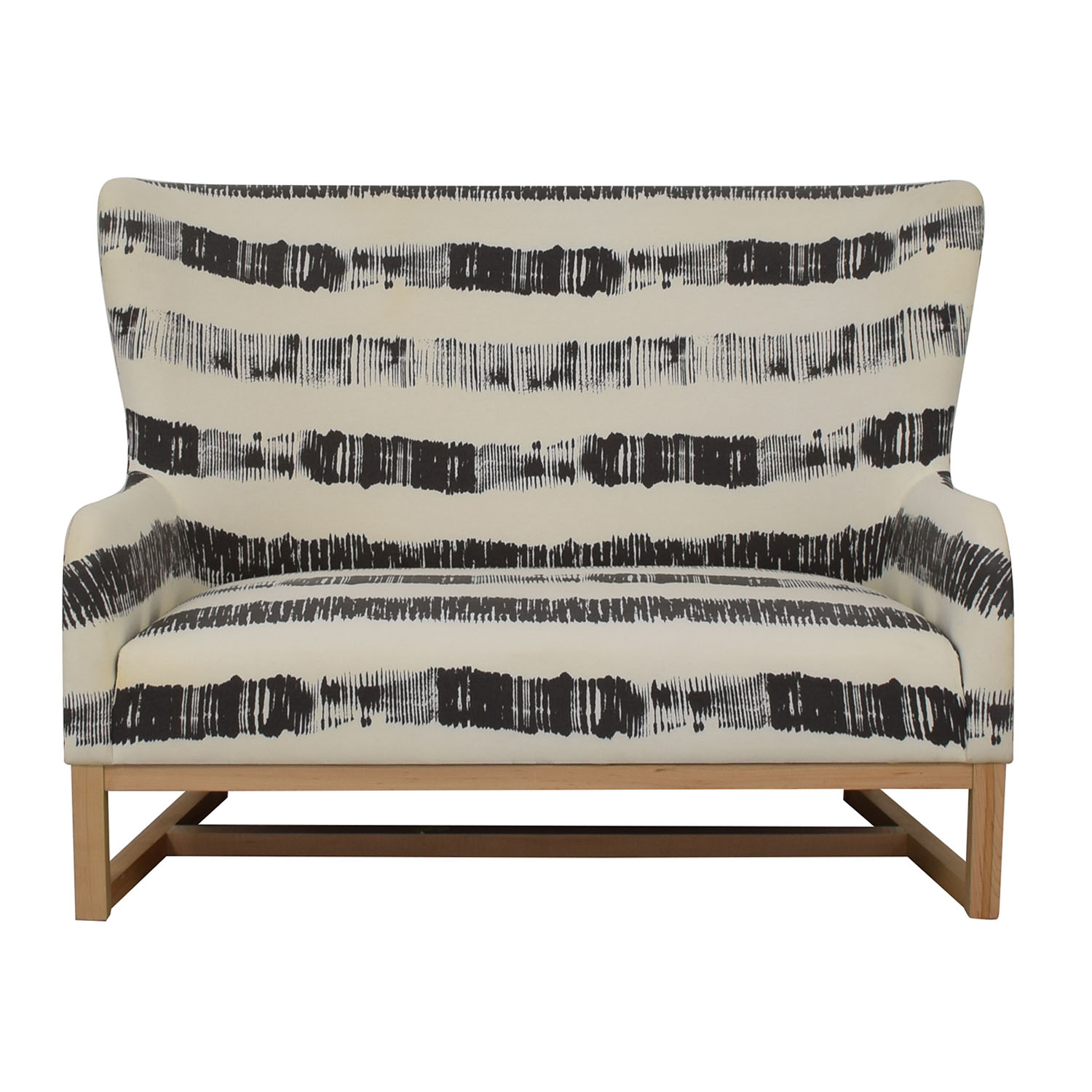 CB2 CB2 Graphite Stripe Loveseat on sale