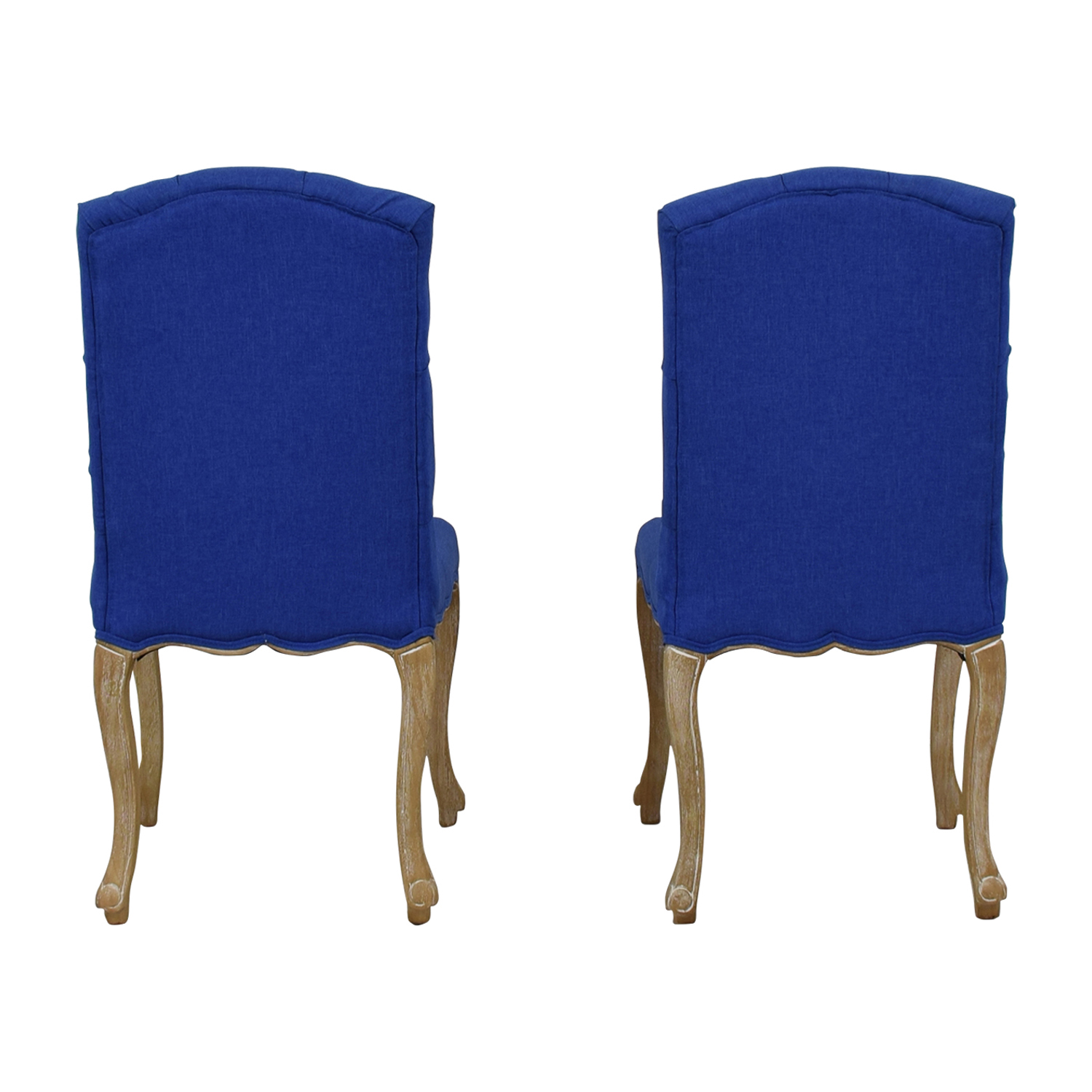 Royal Blue Tufted Back Dining Chairs for sale