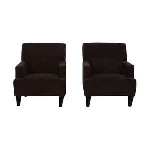 Havertys Havertys Brown Arm Accent Chairs