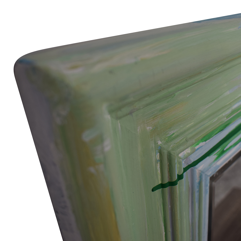 buy Rainbow Painted Square Wall Mirror  Wall Art