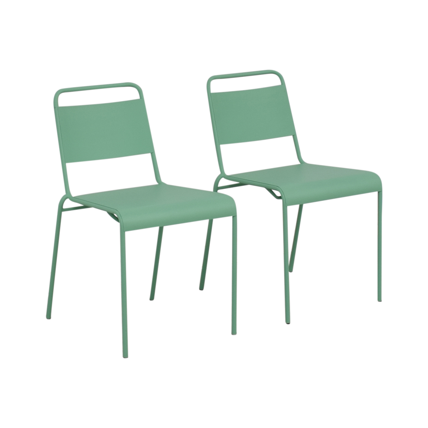 buy West Elm Lucinda Mint Green Dining Chairs West Elm Chairs
