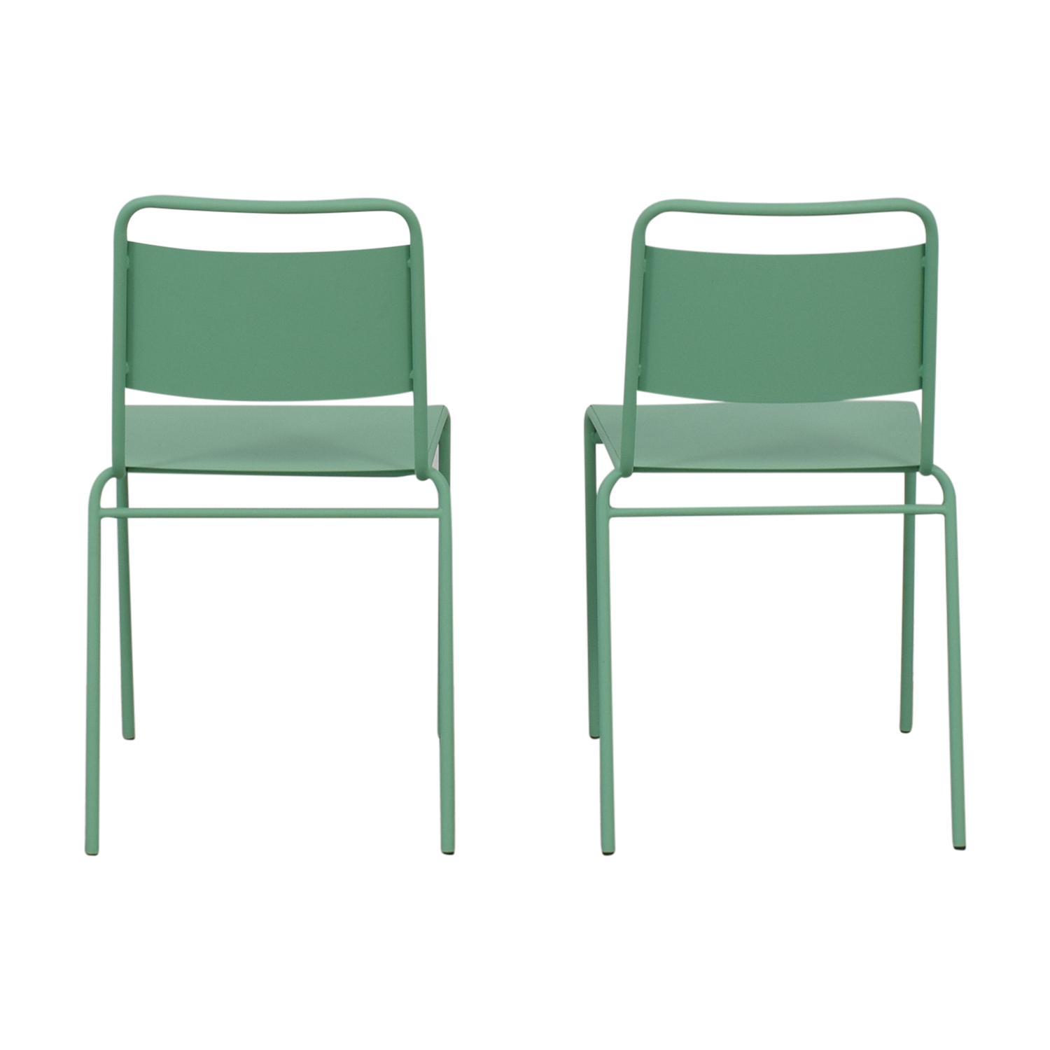 shop West Elm Lucinda Mint Green Dining Chairs West Elm Chairs