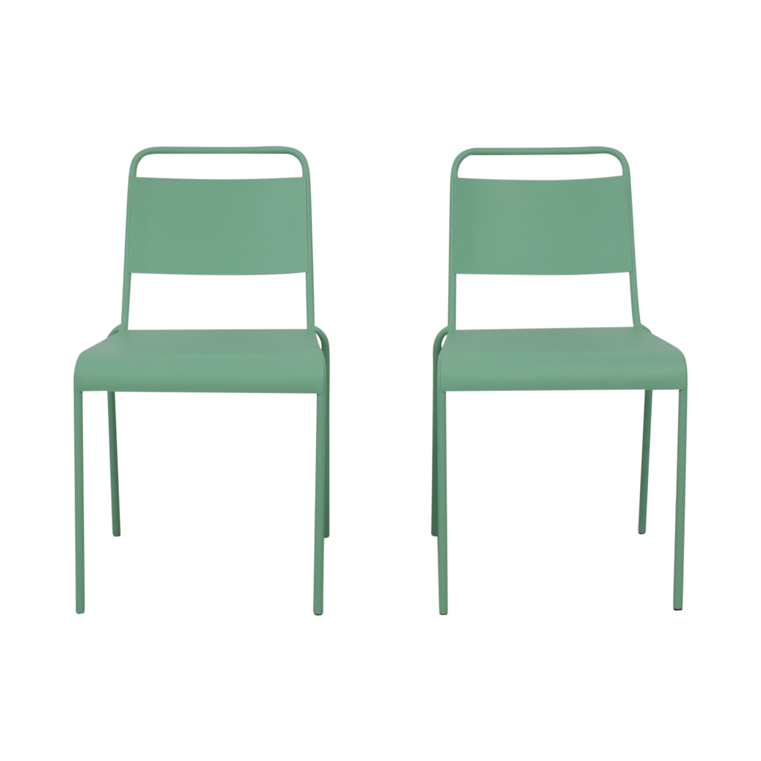 buy West Elm Lucinda Mint Green Dining Chairs West Elm