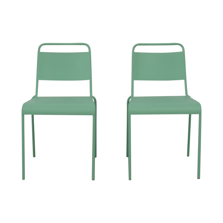 West Elm West Elm Lucinda Mint Green Dining Chairs used