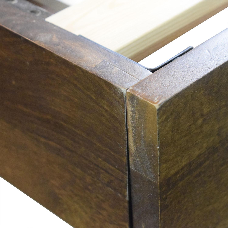 buy West Elm Boerum Wood Platform Queen Bed Frame West Elm Beds