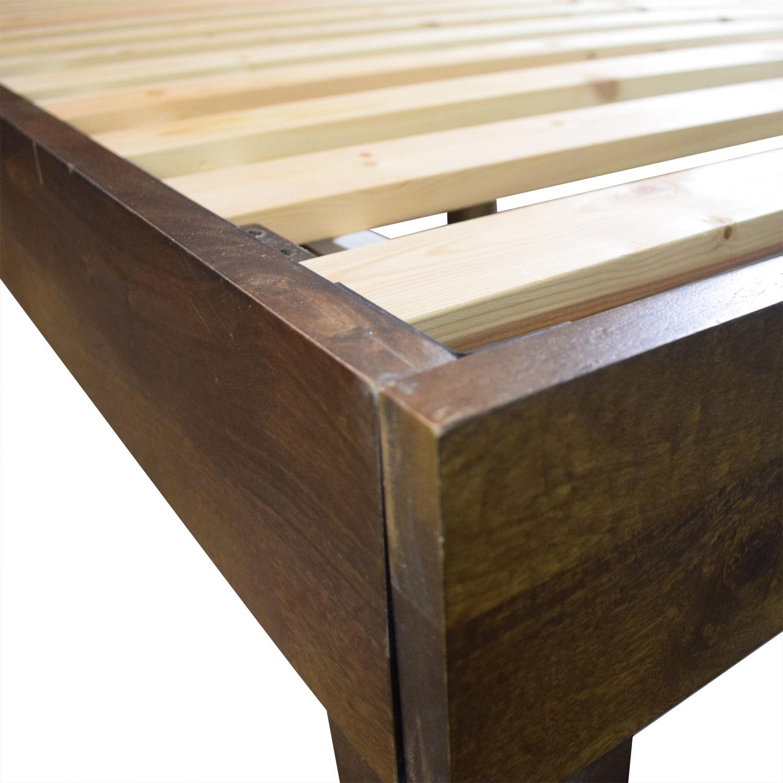 West Elm Boerum Wood Platform Queen Bed Frame / Bed Frames