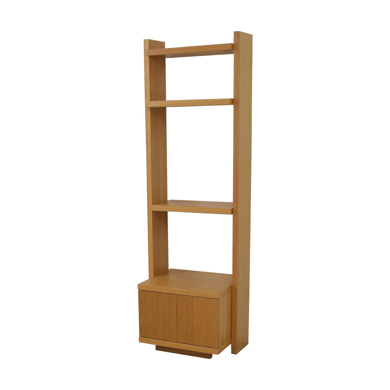 Oak Shelves with Storage on sale