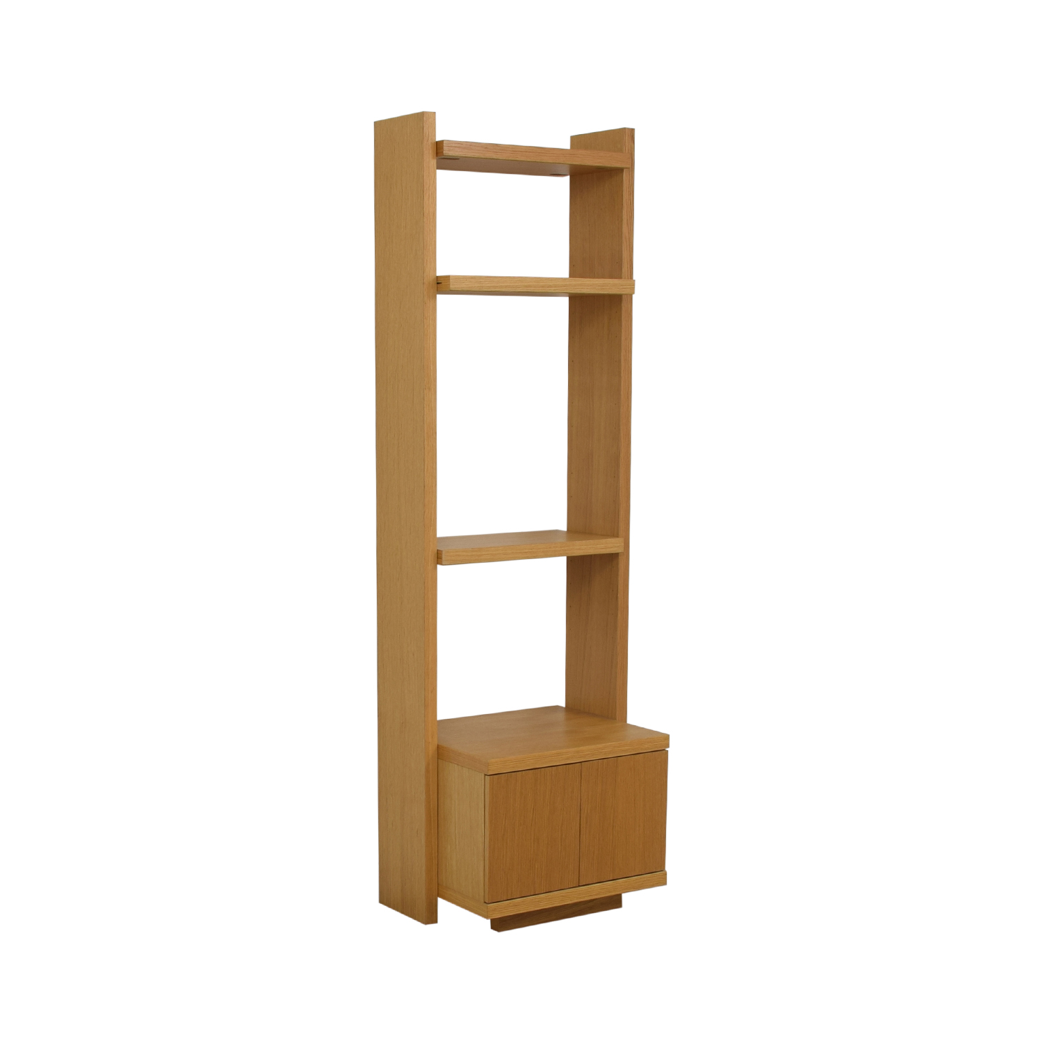 Oak Shelves with Storage for sale