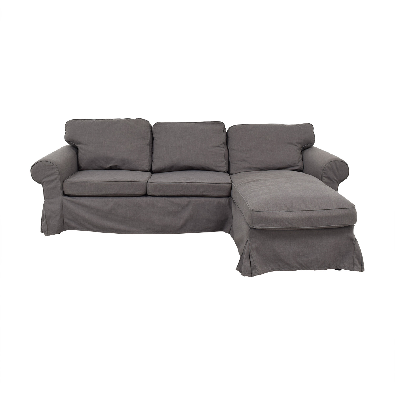 IKEA IKEA Grey Chaise Sectional for sale