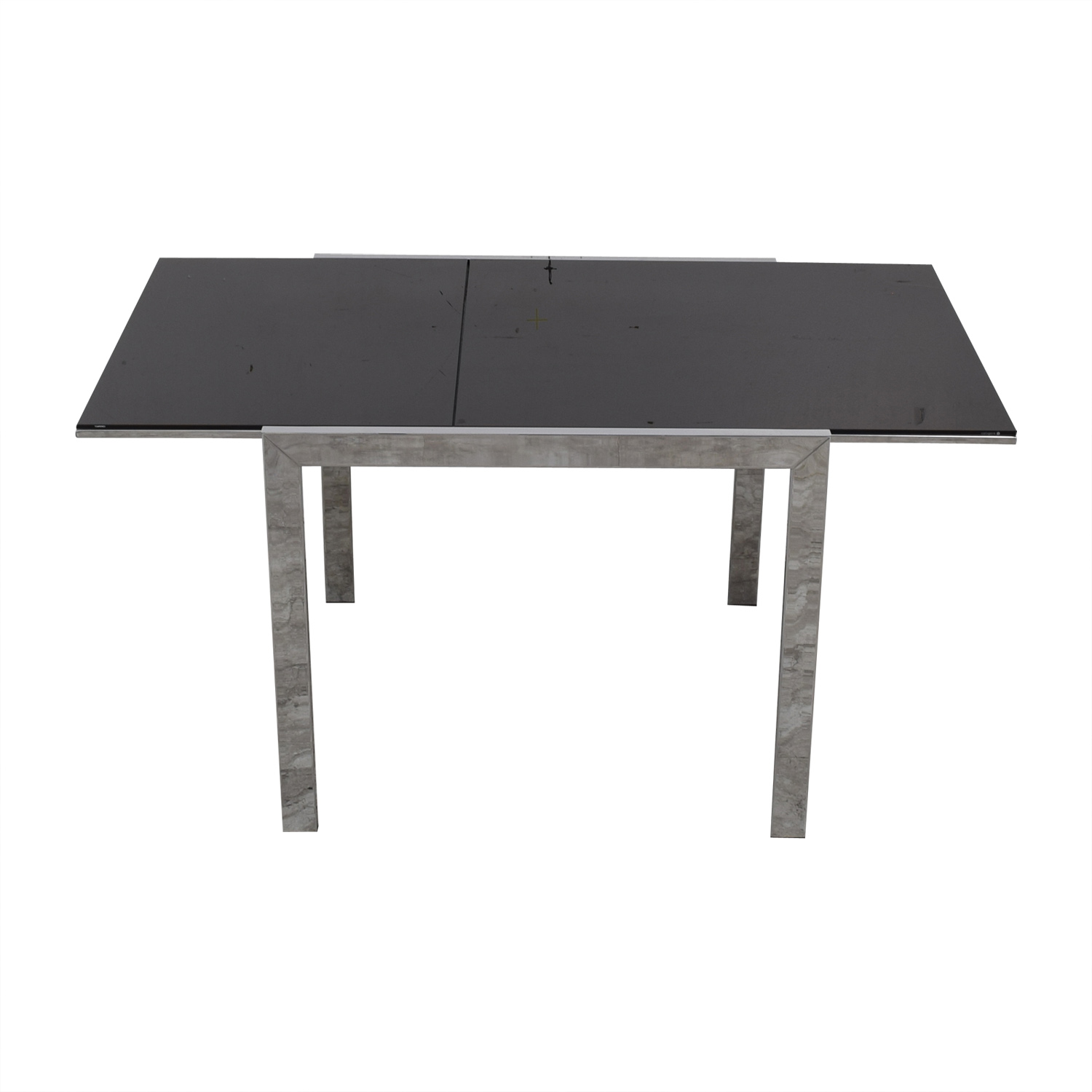 Jensen-Lewis Jensen-Lewis Black Glass Extendable Dining Table discount