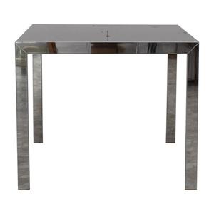 Jensen-Lewis Jensen-Lewis Black Glass Extendable Dining Table dimensions