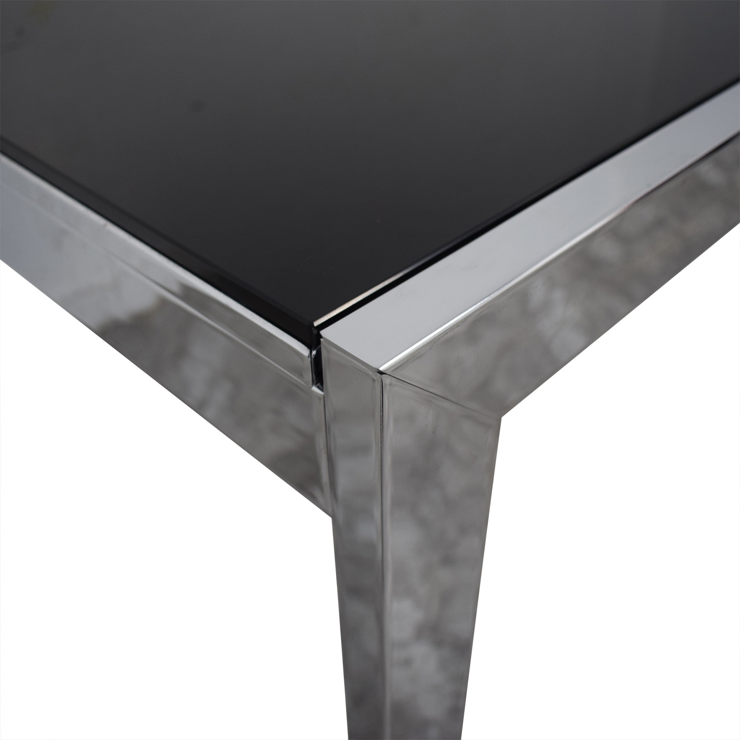 Jensen-Lewis Black Glass Extendable Dining Table sale