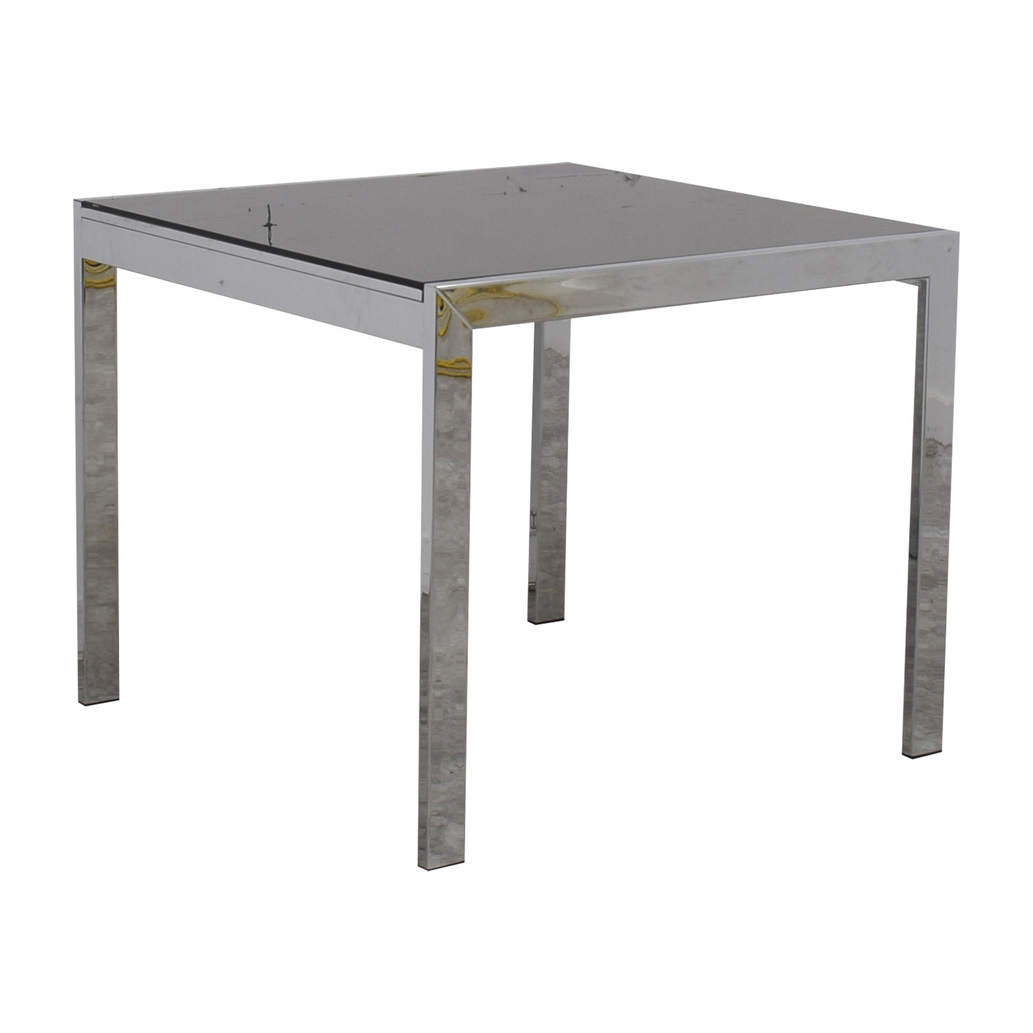 Jensen-Lewis Jensen-Lewis Black Glass Extendable Dining Table for sale
