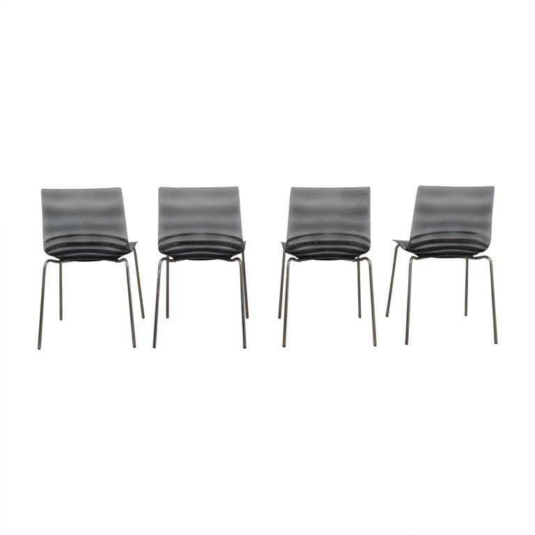 Calligaris Calligaris Black Ghost Chairs dimensions