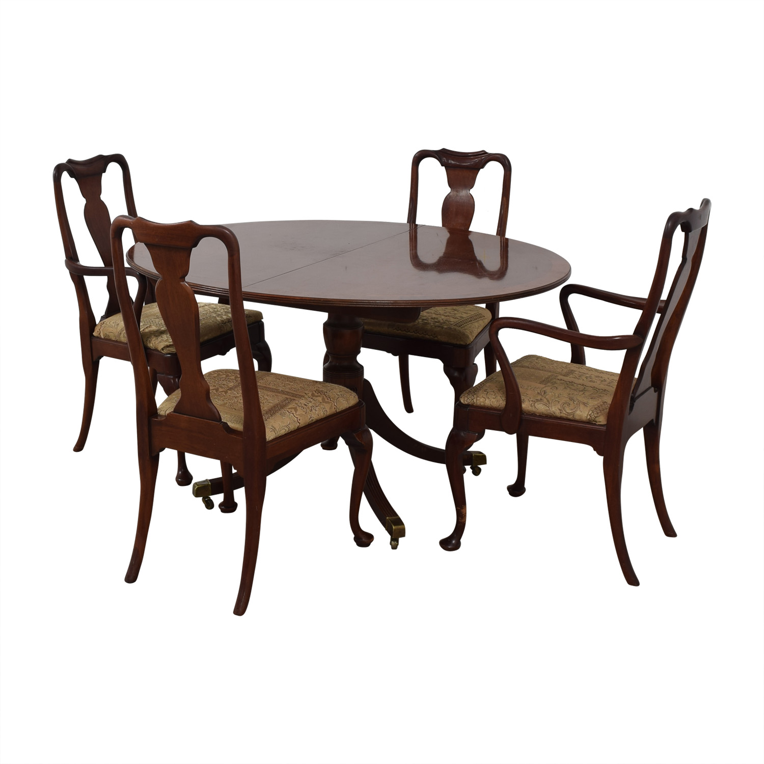 Baker Historic Charleston Reproduction Extendable Dining Table wooden