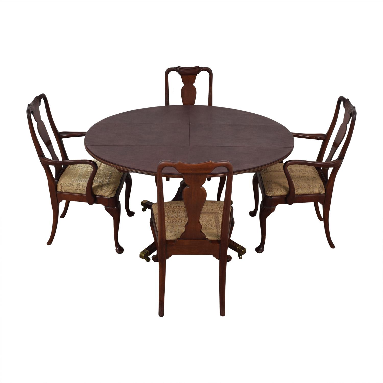Baker Historic Charleston Reproduction Extendable Dining Table nj