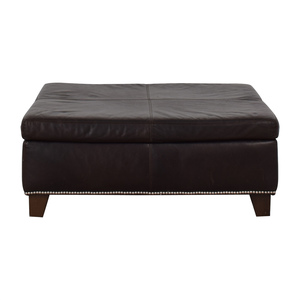 Pottery Barn Pottery Barn By Mitchell Gold + Bob Williams Nailhead Ottoman discount
