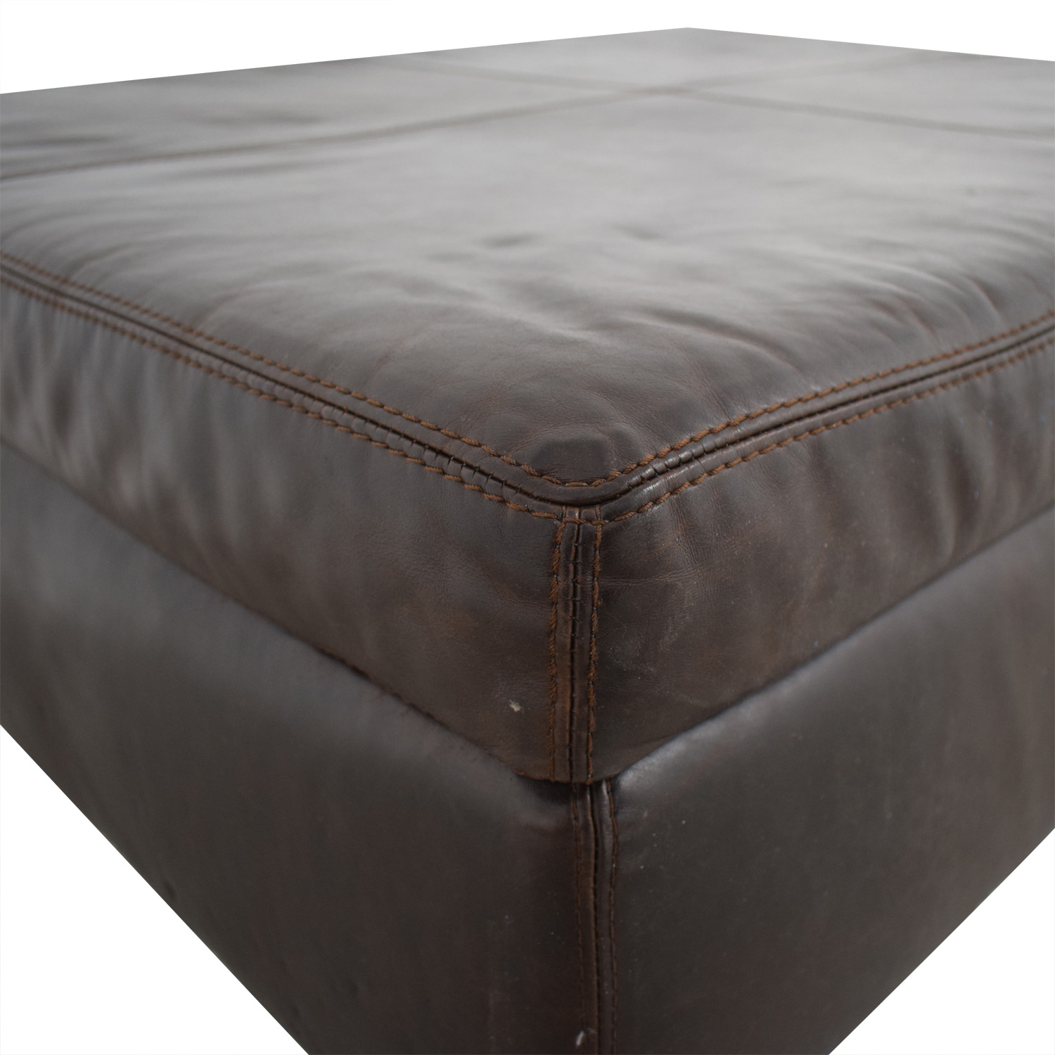 Pottery Barn By Mitchell Gold + Bob Williams Nailhead Ottoman sale