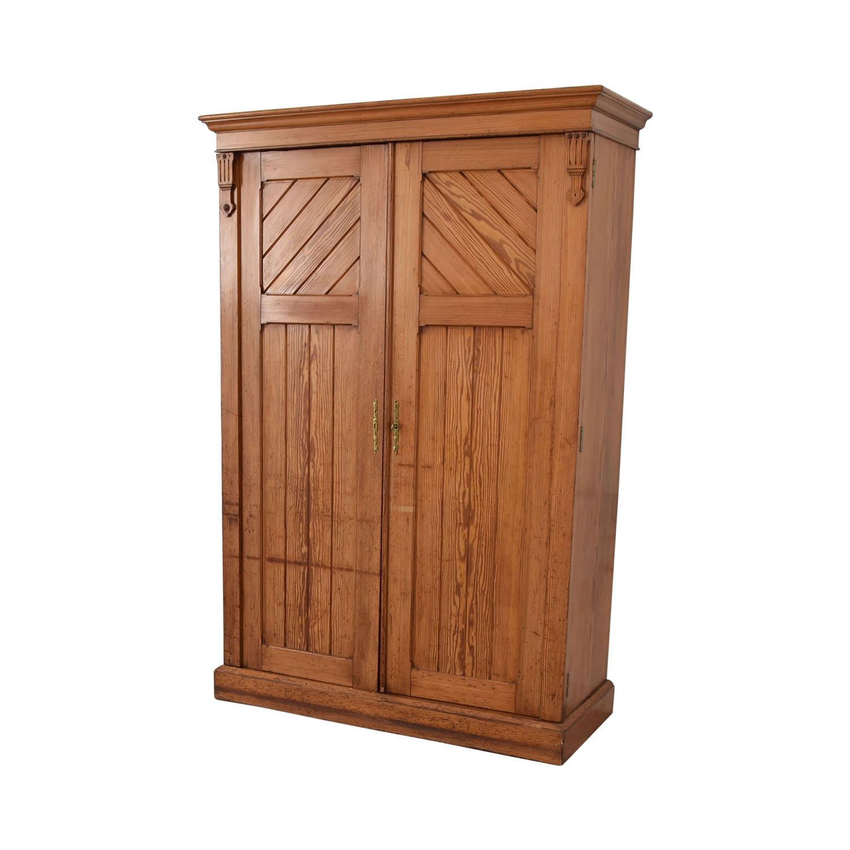 buy Wood Three-Drawer Clothing Armoire  Storage