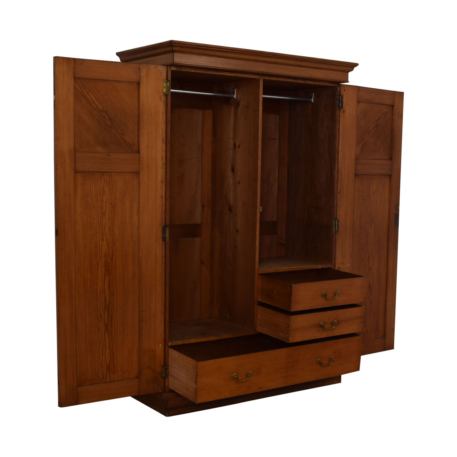 Wood Three-Drawer Clothing Armoire sale