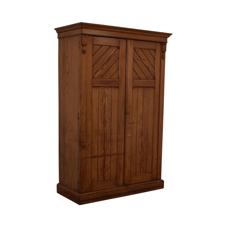 Wood Three-Drawer Clothing Armoire nj