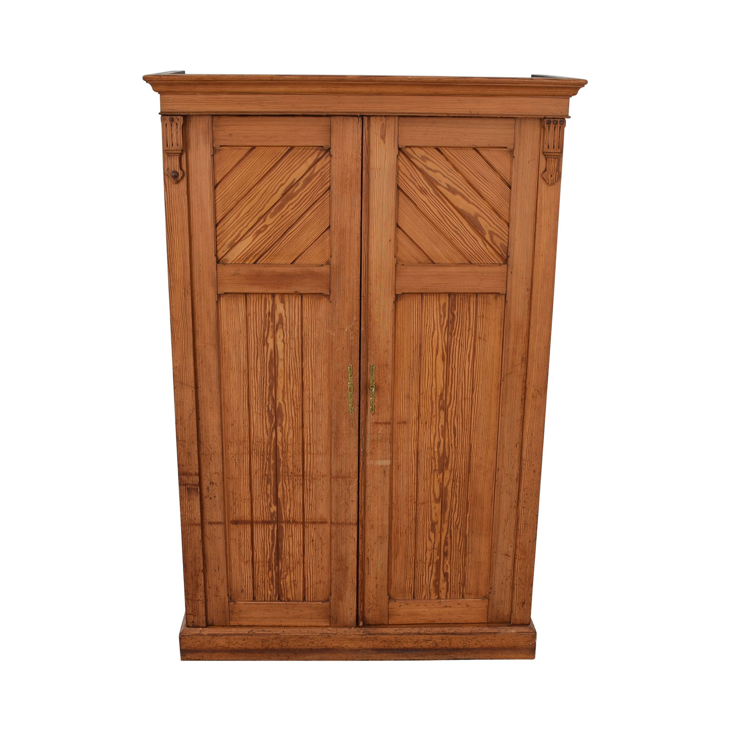 Wood Three-Drawer Clothing Armoire Wardrobes & Armoires
