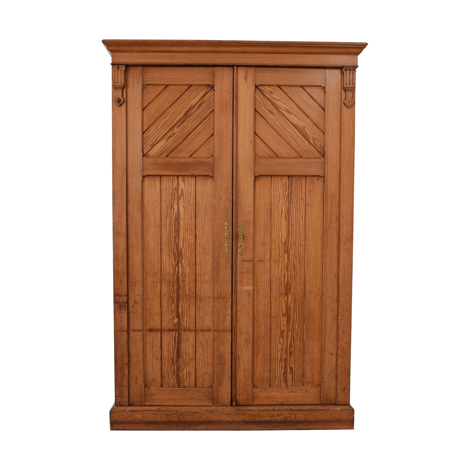 Wood Three-Drawer Clothing Armoire dimensions