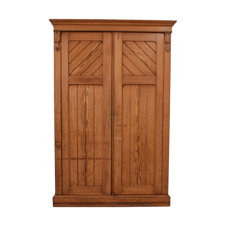 Wood Three-Drawer Clothing Armoire