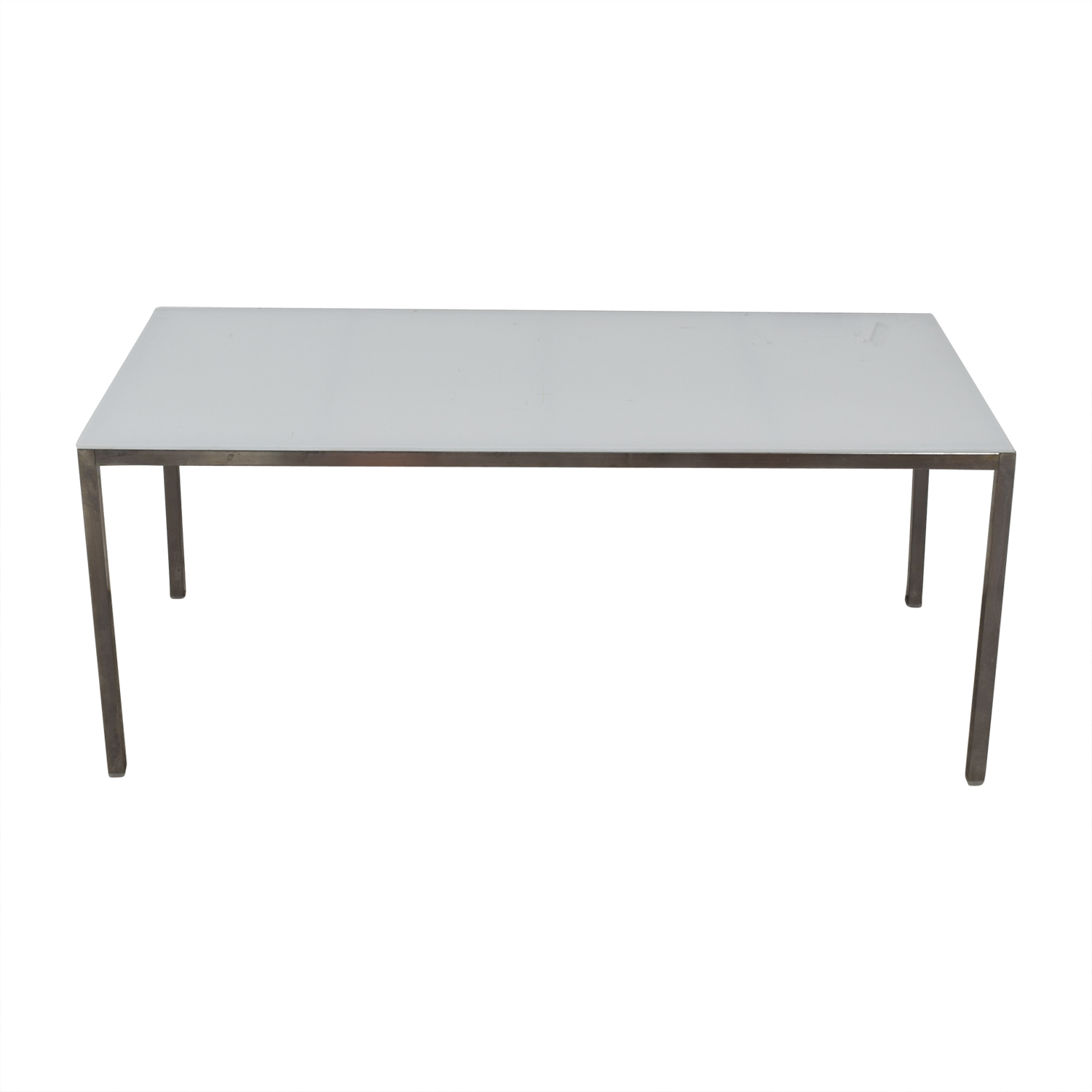 buy IKEA White Glass Top and Chrome Table IKEA Tables