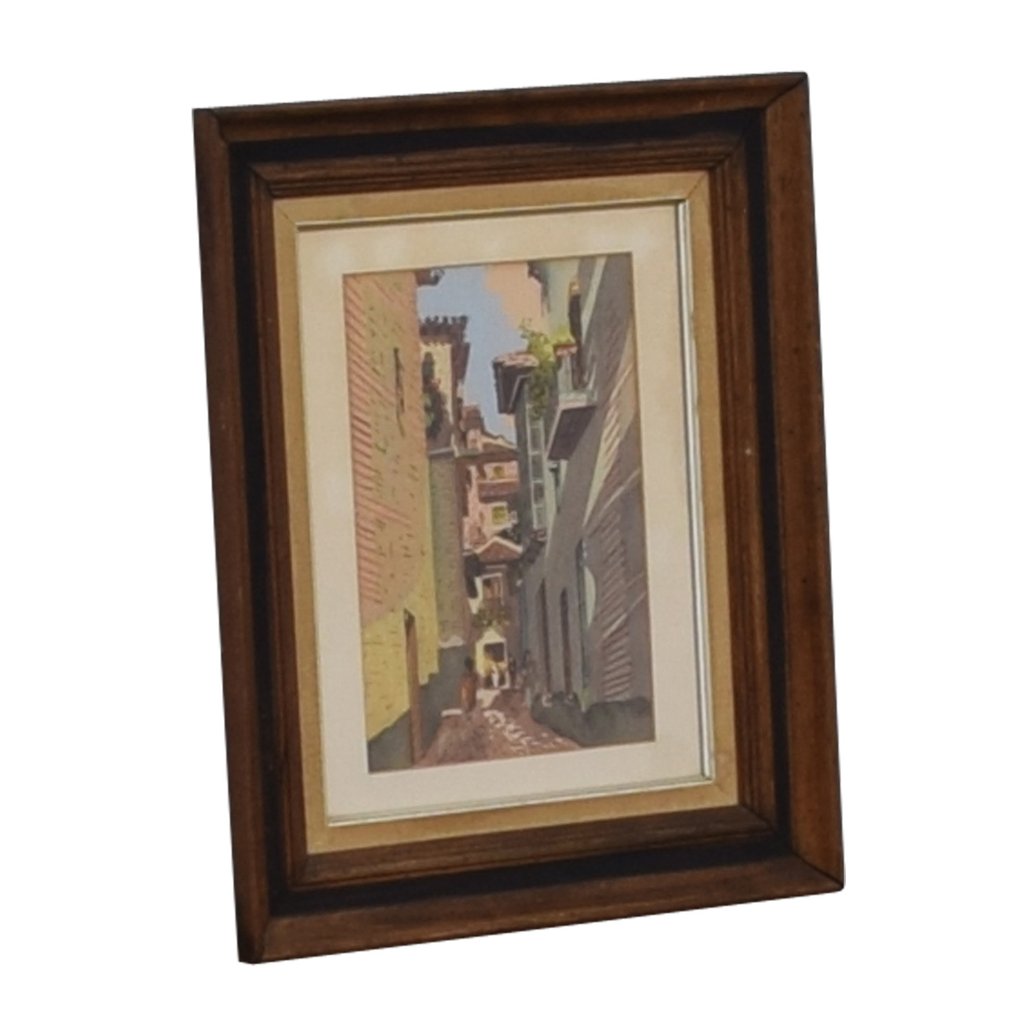 Scenic Village Walkway Framed Art / Wall Art
